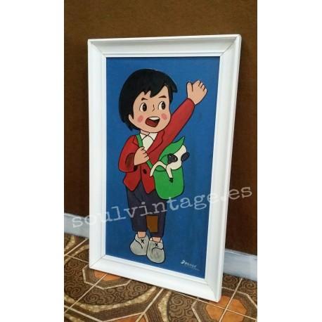Pintura del personaje infantil  Marco
