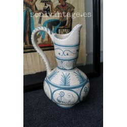 Jarra de cerámica craquelada