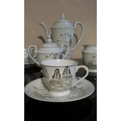 Juego de café porcelana Sají  Japón años 50'