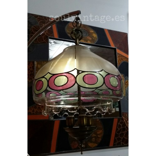 Lámpara de techo estilo Tiffany