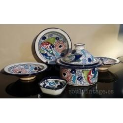 Vajilla cerámica de Nabeul