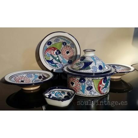 Vajilla cerámica tunecina