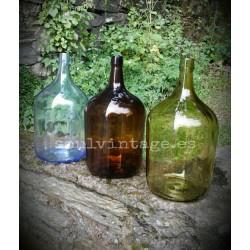Antiguas vasijas cristal colores