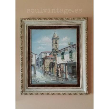 Óleo casco histórico Santiago de Compostela