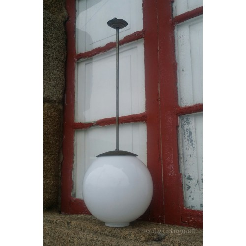 Lámpara de techo opalina