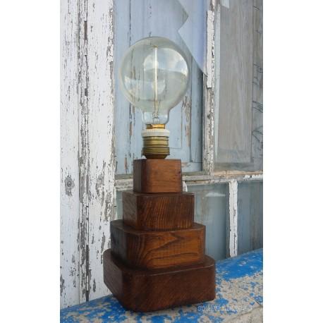 Lámpara de sobremesa madera de castaño