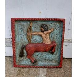 Cuadro tallado en madera zodiaco Sagitario