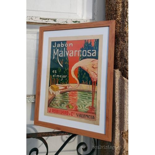 Cartel Jabón Malvarrosa. S.XIX