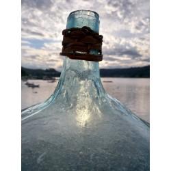 Damajuana vidrio soplado. Siglo XIX