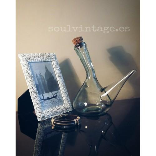 Porrón de cristal transparente