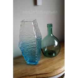 Jarrón cristal pavonado