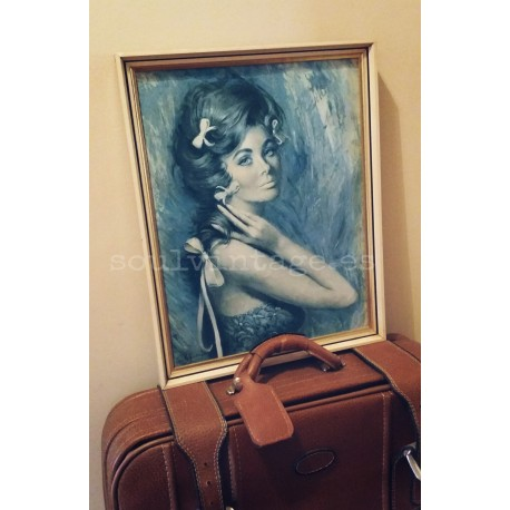 Antiguo retrato de mujer al óleo